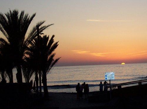 Sunset in Las Americas