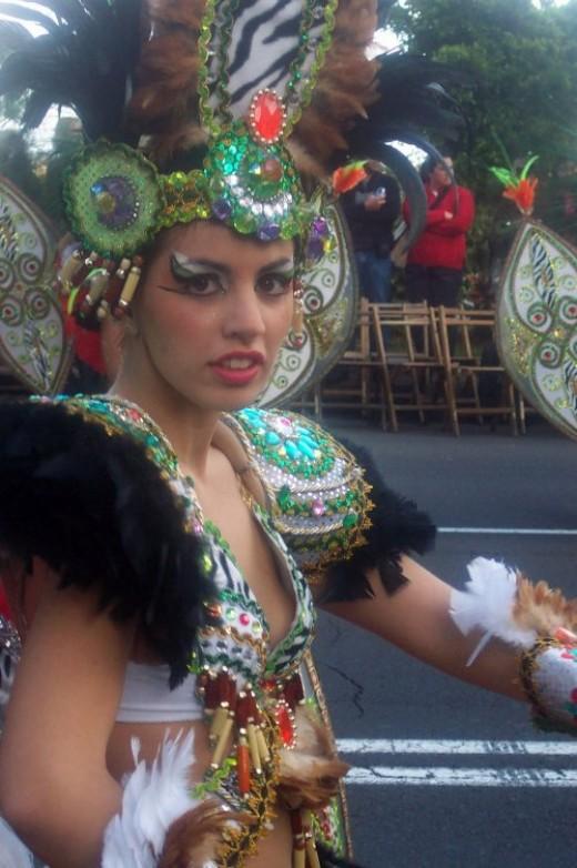 At the Santa Cruz carnival