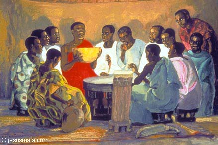 """The Lord's Supper,"" African, JesusMafa.com"