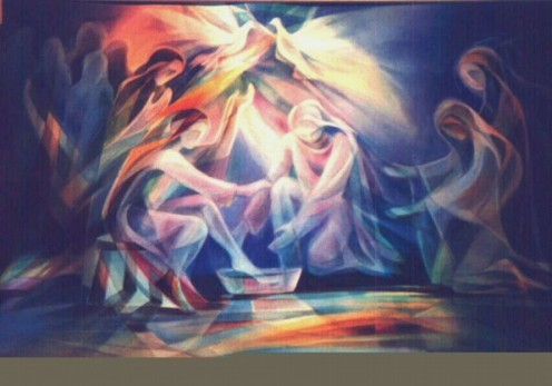 Jesus washes the disciples' feet, by Leszek Forczek