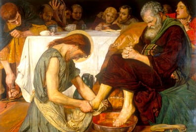 Jesus washes the disciples' feet, http://www.oblatesusa.org