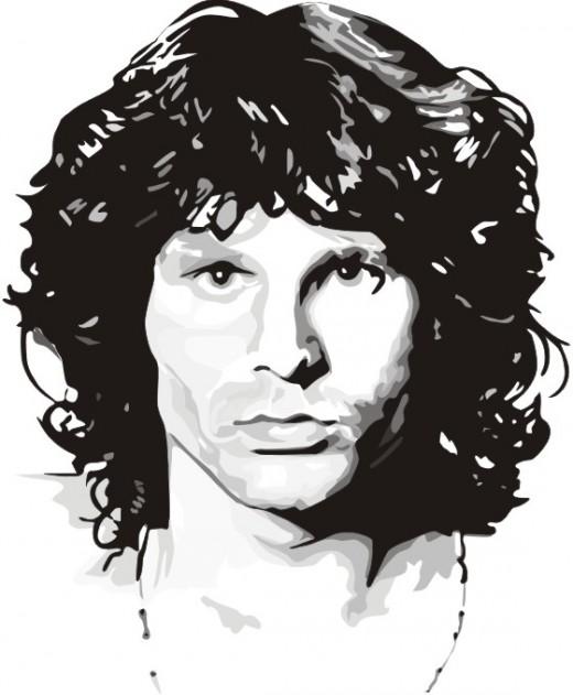 Jim Morrison vectored.