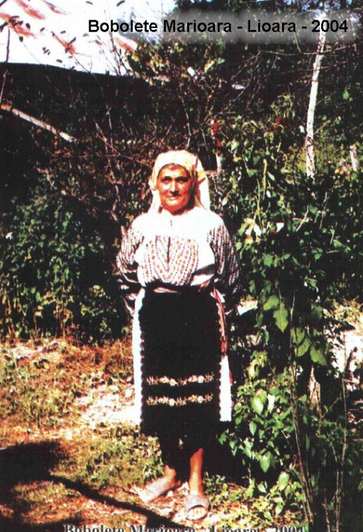 a villager in folkloric costume