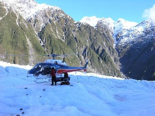The helicopter on Franz Josef Glacier