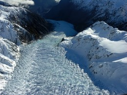 Fox Glacier seen from the plan