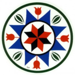 Pennsylvania Dutch Hex Sign:  symbol of prosperity
