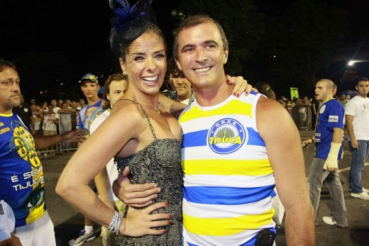 Adriane Galisteu Queen in 2010 Carnival  with Paul Barros by Foto BR