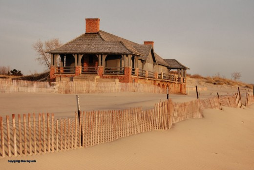 The park's CCC-built beachhouse is still closed following winter.