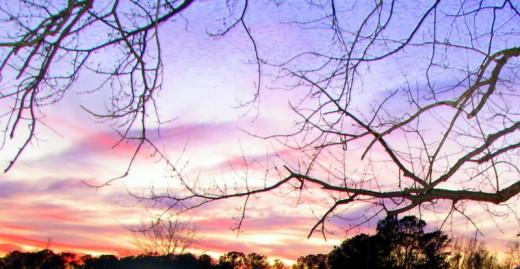Sunset in Oak Hall, Virginia, U.S.A. Photo by Windy G. Mason.