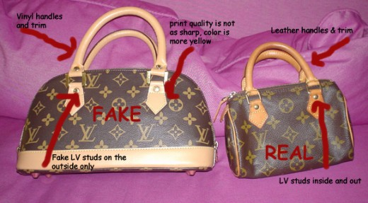 Difference between real and fake Louis Vuitton