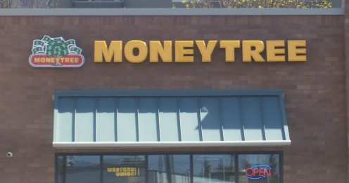 Moneytree is a popular place for payday loans.