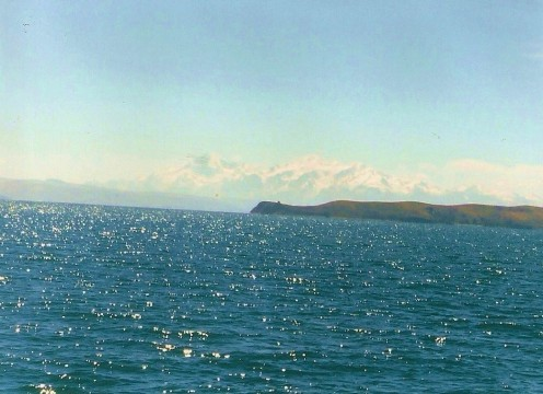 The boat ride to Isla del Sol offers beautiful views of Lake Titicaca