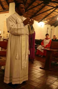 Fr Dan delivering his brief homily