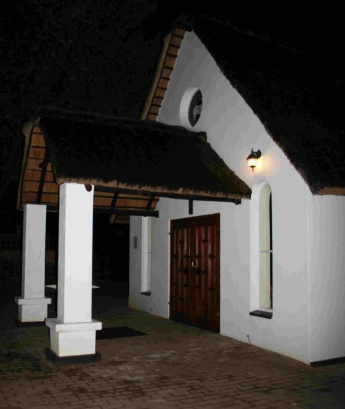 The entrance porch of Corpus Christi Church, Garsfontein, Pretoria