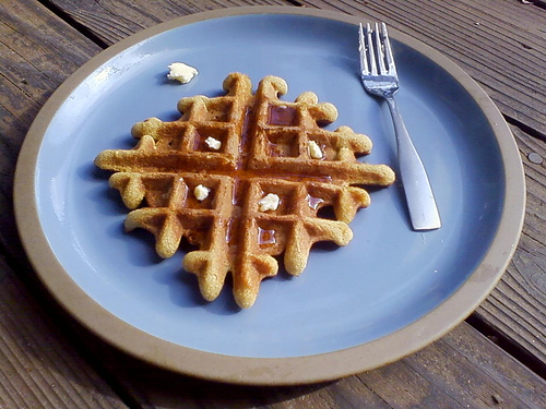 Amaranth and Coconut Flour Waffle