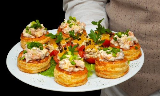 Tartlets with Salad on Top from Dreamstime.com