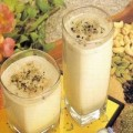 Thandai served in a glass