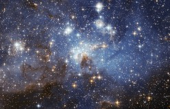Image from European Space Agency. Listed as 'LH 95 star forming region of the Large Magellanic Cloud'. Taken using the Hubble Space Telescope. European Space Agency (ESA/Hubble). Full details at http://www.spacetelescope.org/copyright.html Permission
