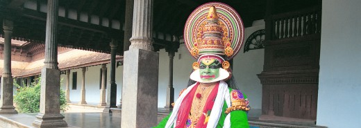 Kathakali, an art form in Kerala