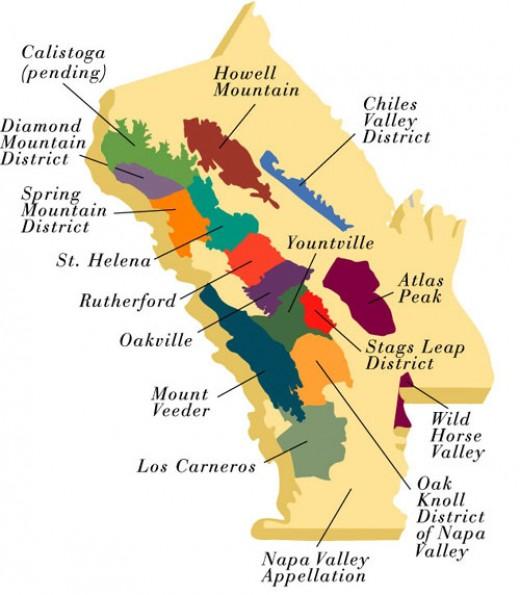 map of california coastline. Map Courtesy of Napa Valley