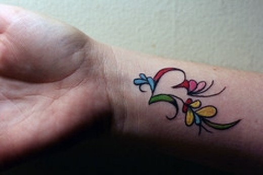 tattoo and tis a perfect tattoo for you ladies to get on yer wrist.