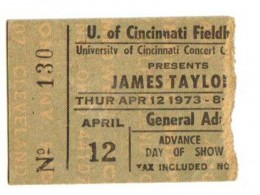 James Taylor in 1973. Carly Simon was at this show.