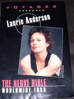 Laurie Anderson program. I've seen Laurie probably 4 times.