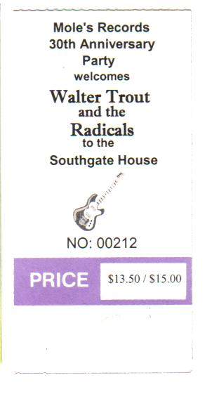 Walter Trout and the Radicals a few years ago to celebrate a local record store's 30th aniv.