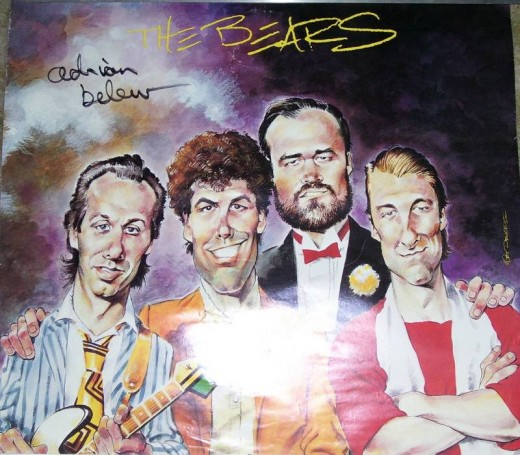Mort Drucker (Mad Mag) did this promo poster for guitar great Adrian Belew's local project The Bears. I had him sign it.