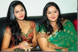 Radha and her daughter, Karthika Nair