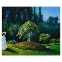 Monet and the Lady in the Garden