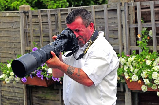 Michael with Nikon D3 and 200-400mm Lens
