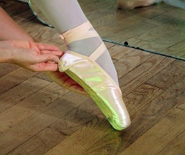 correctly fitted pointe shoe