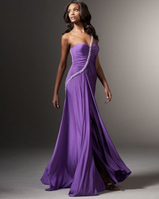 Designer Evening Gown - wedding dress for beach wedding