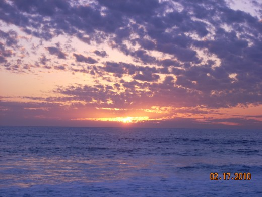 Lovely sunsets on the Pacific.
