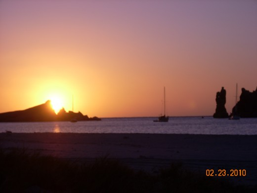 Gorgeous sunrises on the Sea of Cortez.