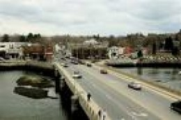 Looking toward downtown Westport at bridge