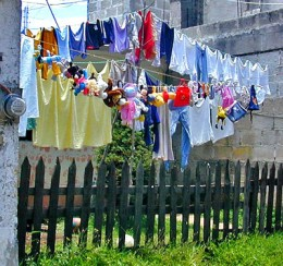 A clothesline is a good alternative to a dryer.