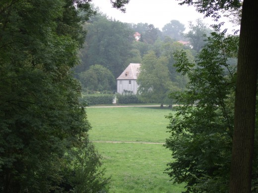 Small cottage in the park in Weimar where Goethe lived when first in the city