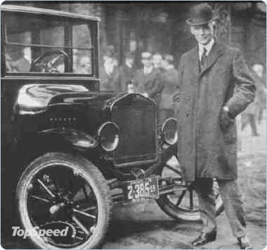 Henry Ford with his Tin Lizzie