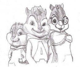 Alvin and the Chipmunks Kids Coloring Pages Chipettes Free Colouring Pictures - The Classic Chipmunk Trio