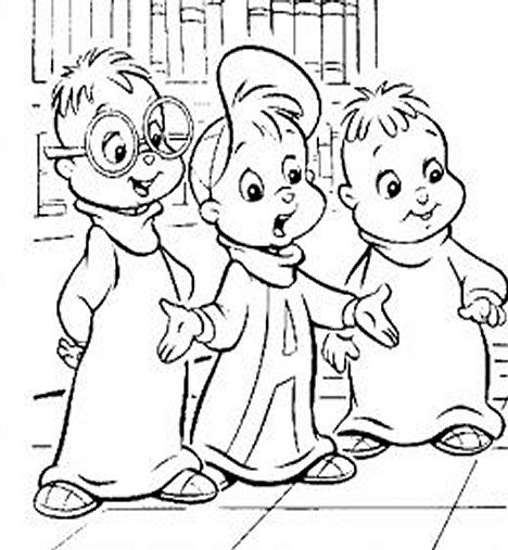 Alvin and the Chipmunks Kids Coloring Pages Chipettes Free Colouring Pictures - Alvin and Friends