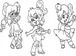 Alvin and the chipmunks coloring pages free chipettes for Chipettes coloring pages to print