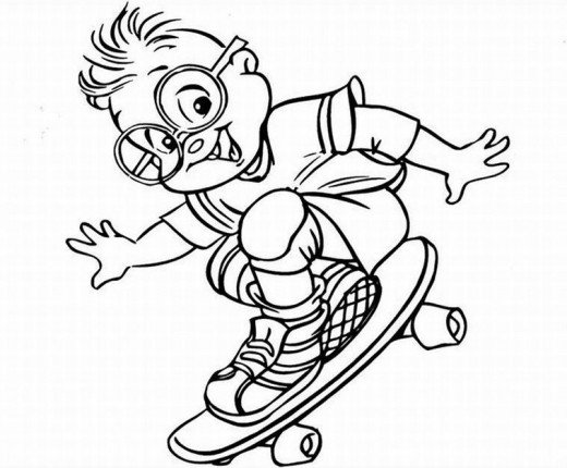 Alvin and the Chipmunks Kids Coloring Pages Chipettes Free Colouring Pictures - ChipBoarding