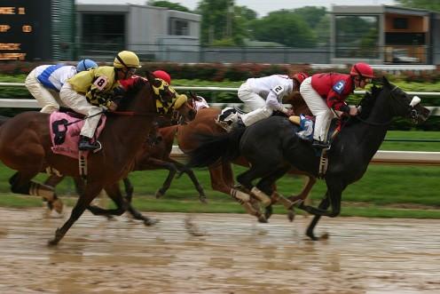 Horse racing at Churchill Downs.