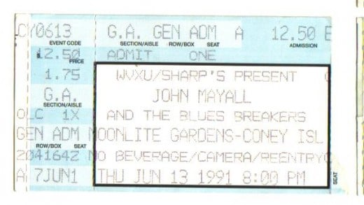 Blues great John Mayall in '91