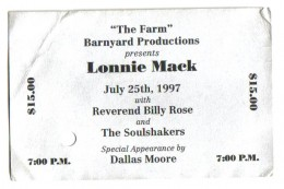 Indiana guitar legend Lonnie Mack.