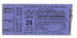 Jazz great Rahsaan Roland Kirk. A venue that seated maybe 500 and a killer show!!
