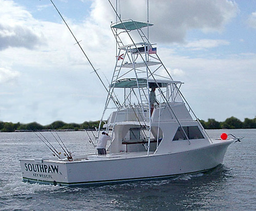 Typical charter fishing boat.