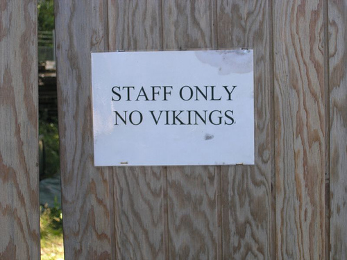 """""""Vikings Please Use Side Entrance"""""""